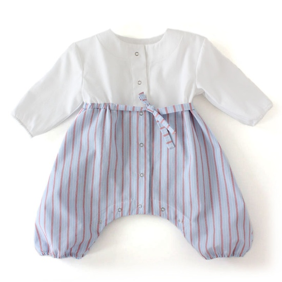 Baby outfit upcycled from Daddy's old shirts