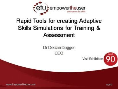 [VIDEO] - 'Rapid Development of softskill simulations for training and assessment' EmpowerTheUser seminar at Learning