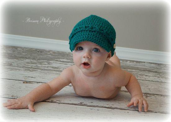 Baby Boy Hat Crochet Baby Boy Newsboy Baby Boy by TheYarnAlchemist, $12.00