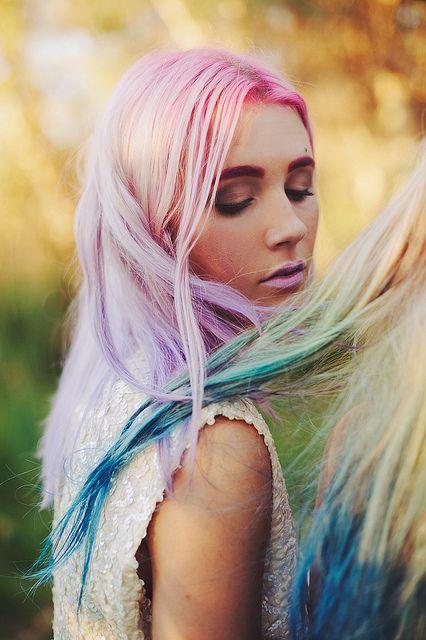pastel / dip dye