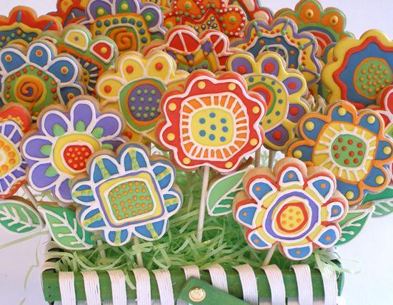 Flower Doodle Sugar Cookies