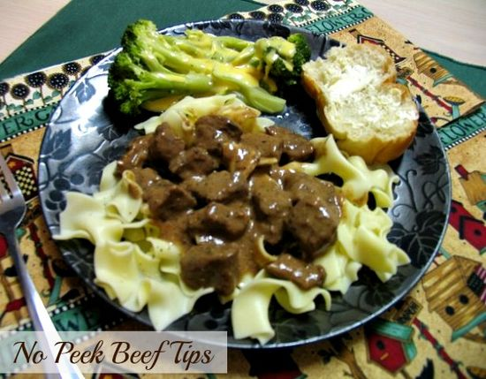 Mommy's Kitchen: No Peek Beef Tips {Over Pasta, Rice or Mashed Potatoes}