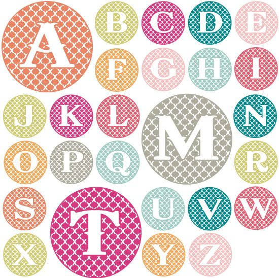 Love these monograms!  And they're a free download.