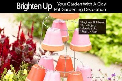 Brighten Up Your Garden With A Clay Pot Gardening Decoration
