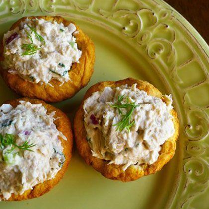 Wasabi Tuna Salad Appetizers.