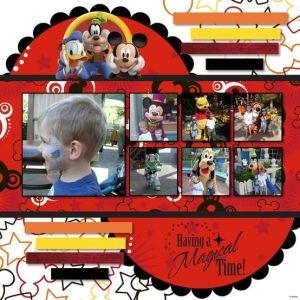 #papercraft #disney #scrapbook #layout    Disney layout by carrie sherrer