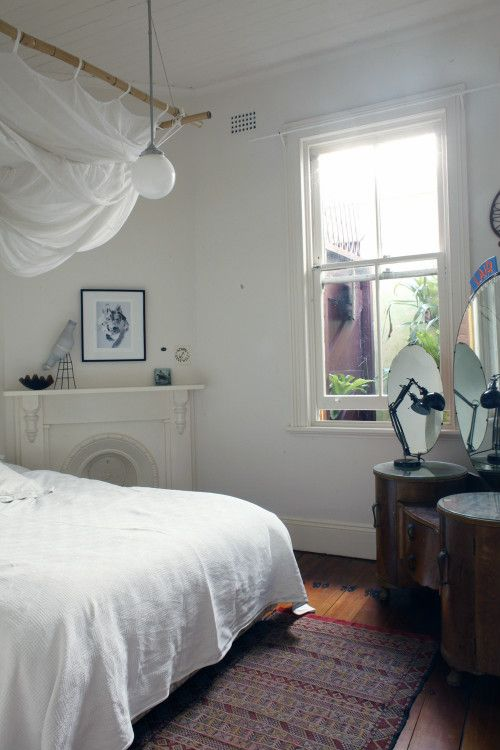 """Sneak Peek: Anna-Wili Highfield and Simon Cavanough. """"If we owned the house I think that we would respectfully add a couple more windows, but the light is nice and filtered through leaves."""" #sneakpeek"""
