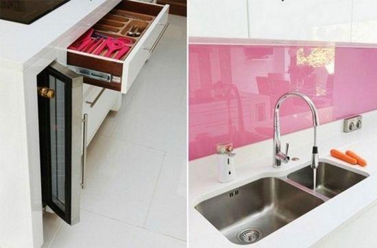 White and Pink Kitchen Design Ideas