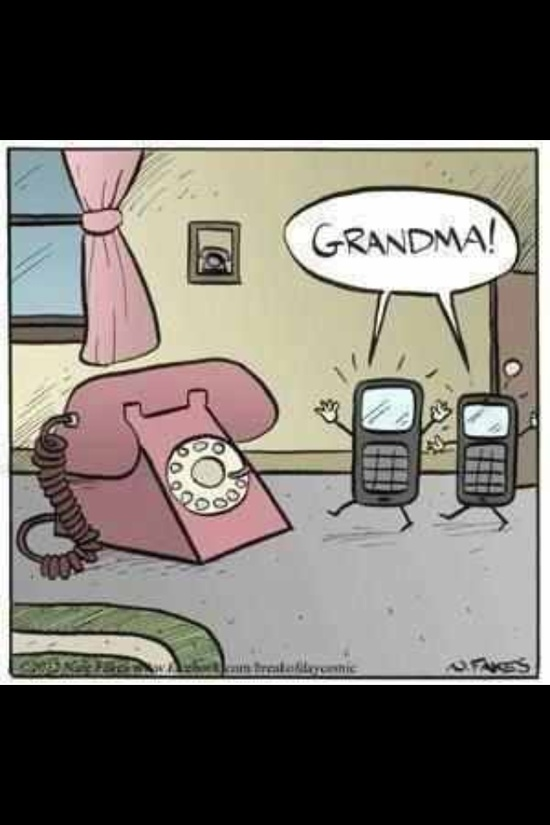 Grandma! rotary dial phones.... Catch post for same on my blog---  www.fingersuncros...