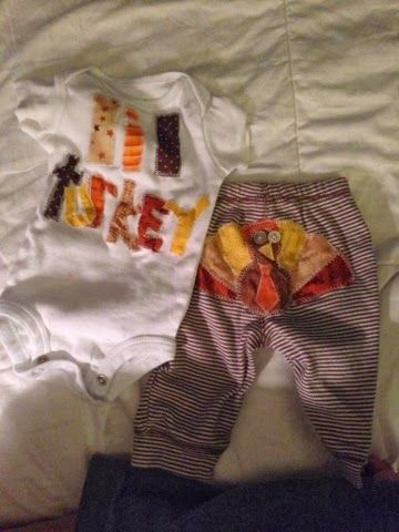 Applique Thanksgiving Baby Outfit