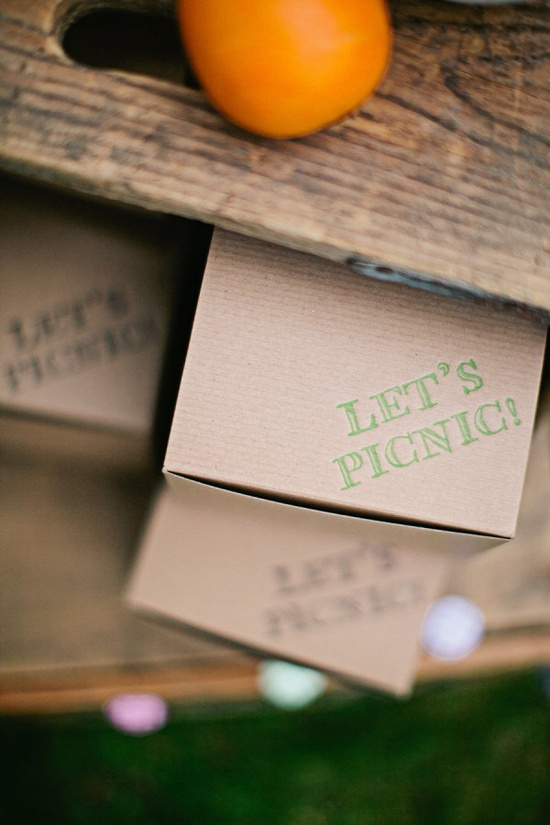 picnic wedding boxed lunches