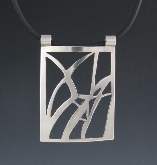 Sterling Silver Reeds Pendant-Handmade. $110.00, via Etsy.