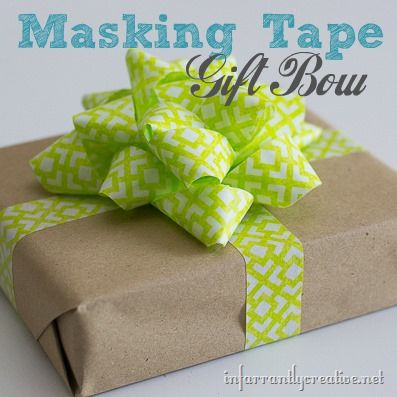 Make a Gift Bow out of Tape!