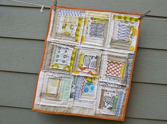 mini quilt by Malka Dubrawsky @ Studio Calico #GracieSwainson
