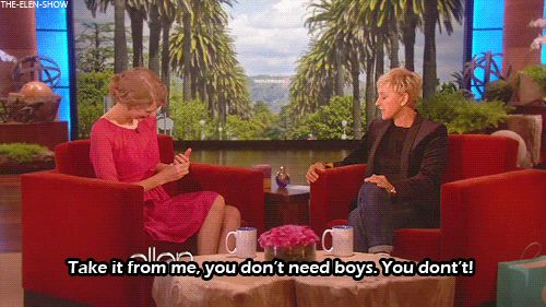One of many great moments on the Ellen show. Whenever Ellen reminded us that sometimes boys are the worst.