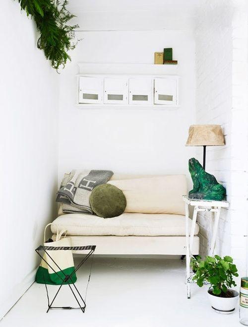 White & green.