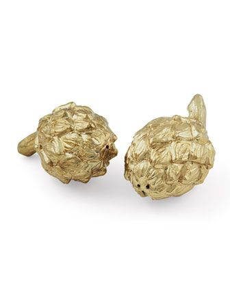 Artichoke Salt & Pepper Shakers by AERIN at Horchow.