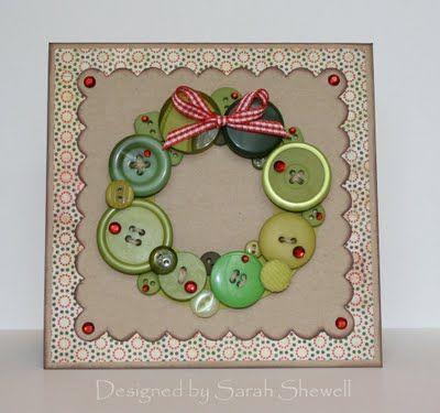Button Wreath.love it!