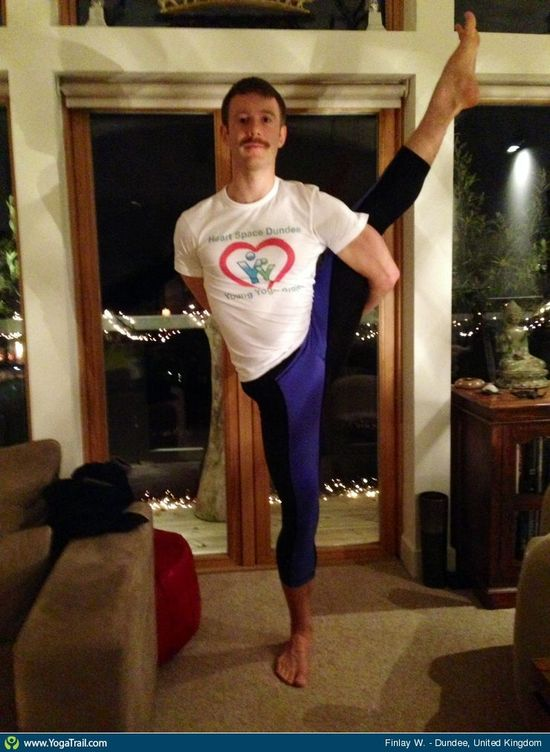 #YogaDudes for #Movember: Bird of Paradise Pose taken in Dundee, United Kingdom by Finlay W.