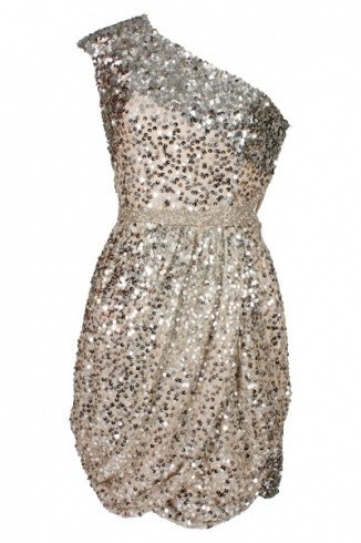 Love sparkles and one shoulder pieces!