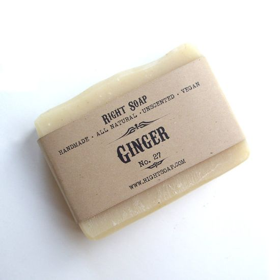 Ginger soap  Unscented soap Vegan soap by RightSoap on Etsy, $6.00
