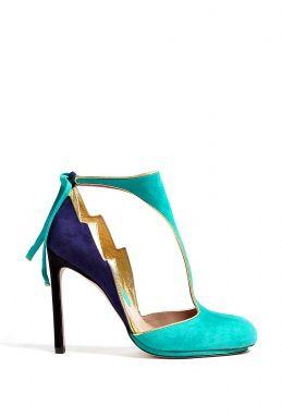 Pipeteetie Multi Colour Suede T-bar Shoe
