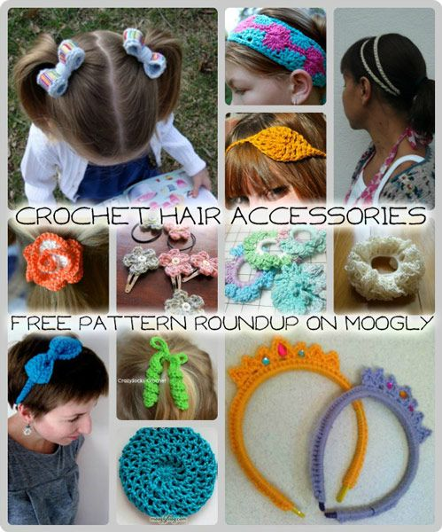 Crochet Hair Accessories: 12 Free Patterns!