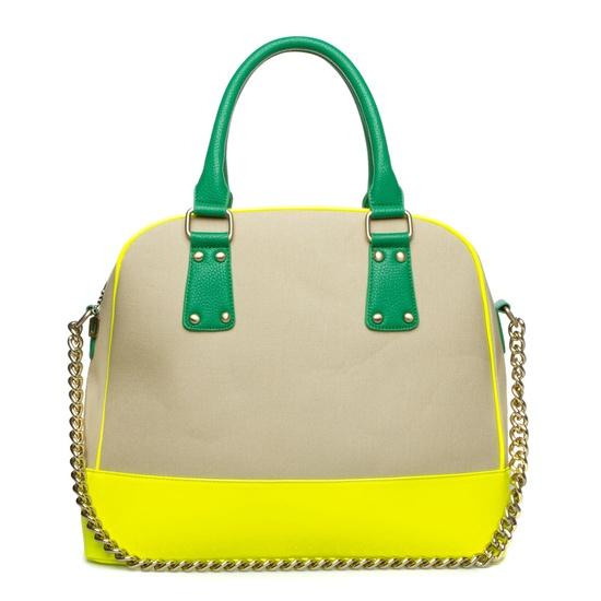 Dipped neon handbag