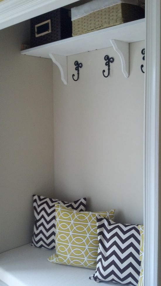 Our Pinteresting Family: Mudroom Out of a Closet