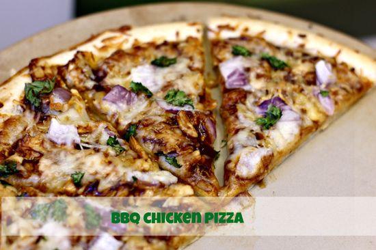 BBQ Chicken Pizza on MyRecipeMagic.com #pizza #bbq #chicken