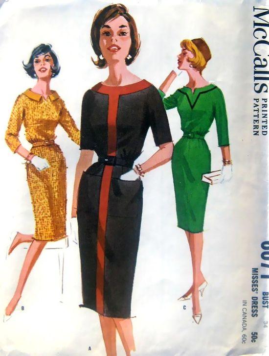 """1960's Slim """"Skirt Dress"""""""