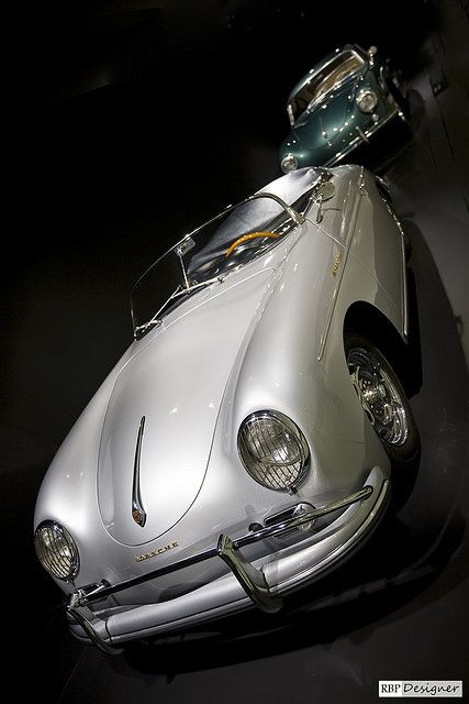 ? silver car Porsche 356 Speedster #ecogentleman #automotive #transportation #wheels