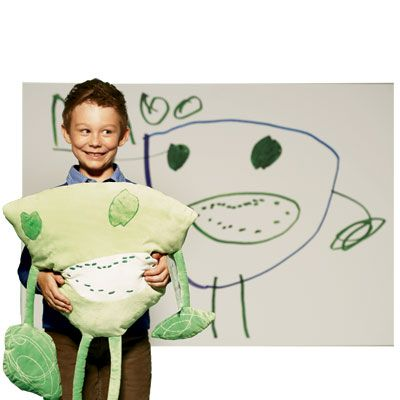 Turn your child's drawing into a stuffed animal.