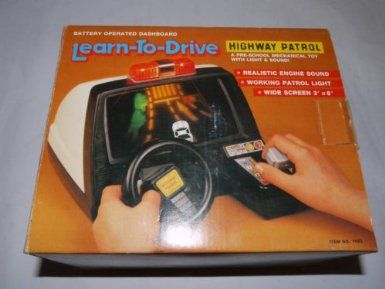 Amazon.com: 1980's Retro Classic Learn to Drive Highway Patrol Electronic Toy Game: Toys & Games