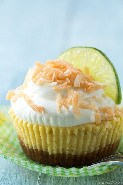 Coconut Key Lime Pie Cupcakes - Cooking Classy
