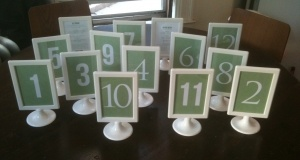 Ruffled blog recycle your wedding>> $10.00 used ikea Tolsby frames