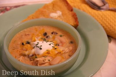 Deep South Dish: Creamy Chicken Tortilla Soup