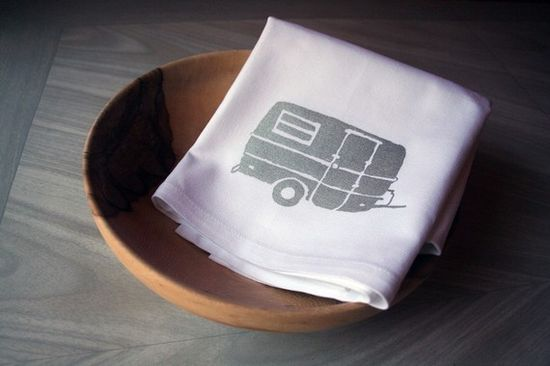 Want to do a set of camping screen prints...love this little camper!