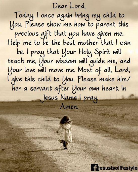 Love this!!! A Parent's Prayer amen