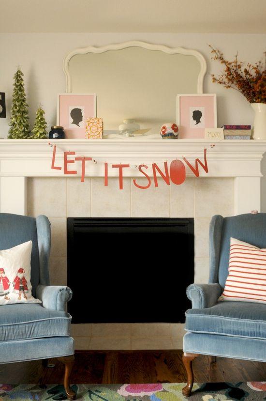 Let It Snow Garland - The Proper Pinwheel