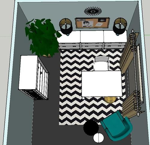 Home Office Design Plan Give Away - check out our amazing Sketchup images!