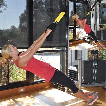 Grab a TRX and tone and tighten your arms this summer with the inverted row.