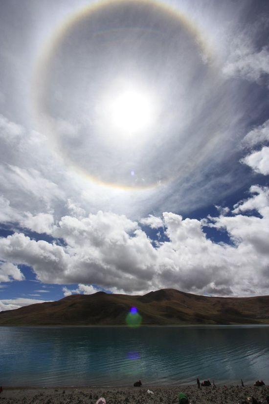 Tibetan Sun Halo by Alan Millar