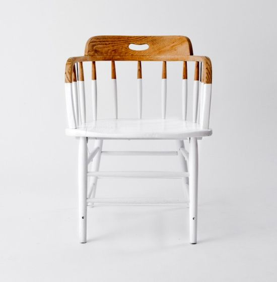 modernize a traditional chair with a dipped paint treatment - not just for chair legs