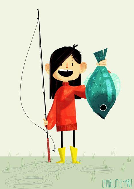 charlottemao:    First catch - Graphic Design