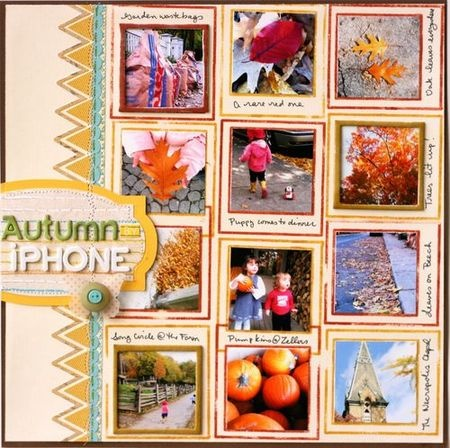 Autumn scrapbooking #scrapbooking #scrapbook