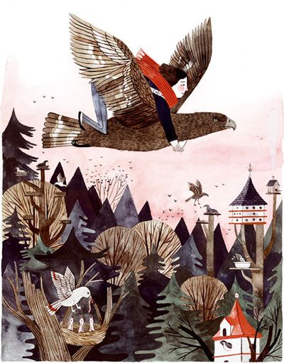 """Illustration by Carson Ellis in the book """"Wildwood."""""""