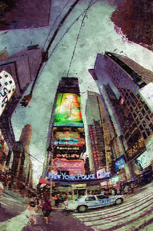"Saatchi Online Artist: Jean-Francois Dupuis; Acrylic, Painting ""New York"" Very amazing painting, makes you feel like you are right there #art"