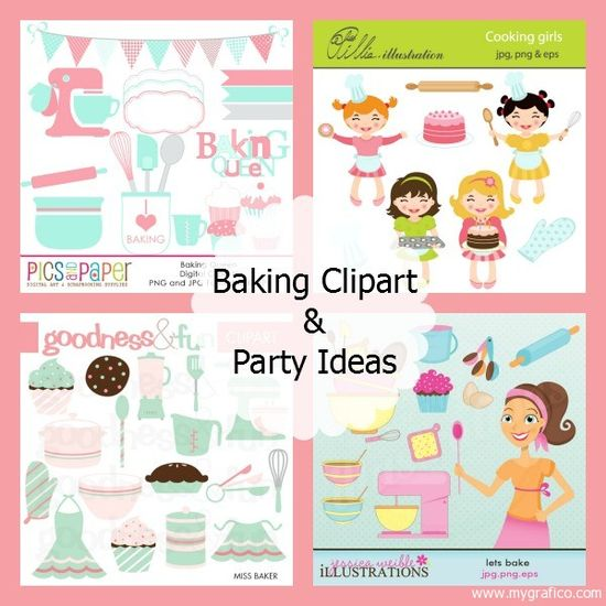 Baking Clipart & Party Ideas