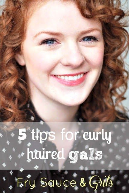 5 Tips for Curly Haired Gals from FrySauceandGrits.com #beauty #curly #hair
